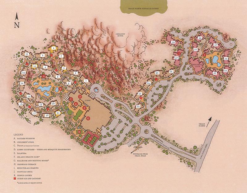 Scottsdale Resort Map Four Seasons Resort Scottsdale at Troon North