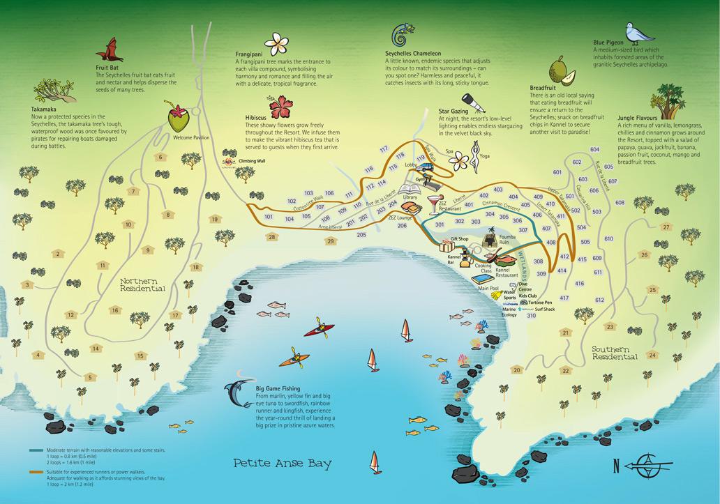 Seychelles Resort Map Four Seasons Resort Seychelles - Map of seychelles world