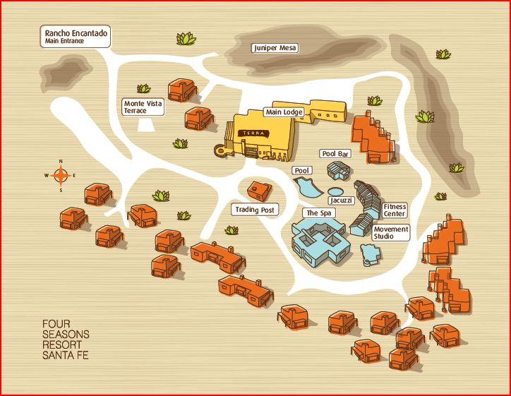 Santa Fe Hotel Map Directions Four Seasons Resort Santa Fe