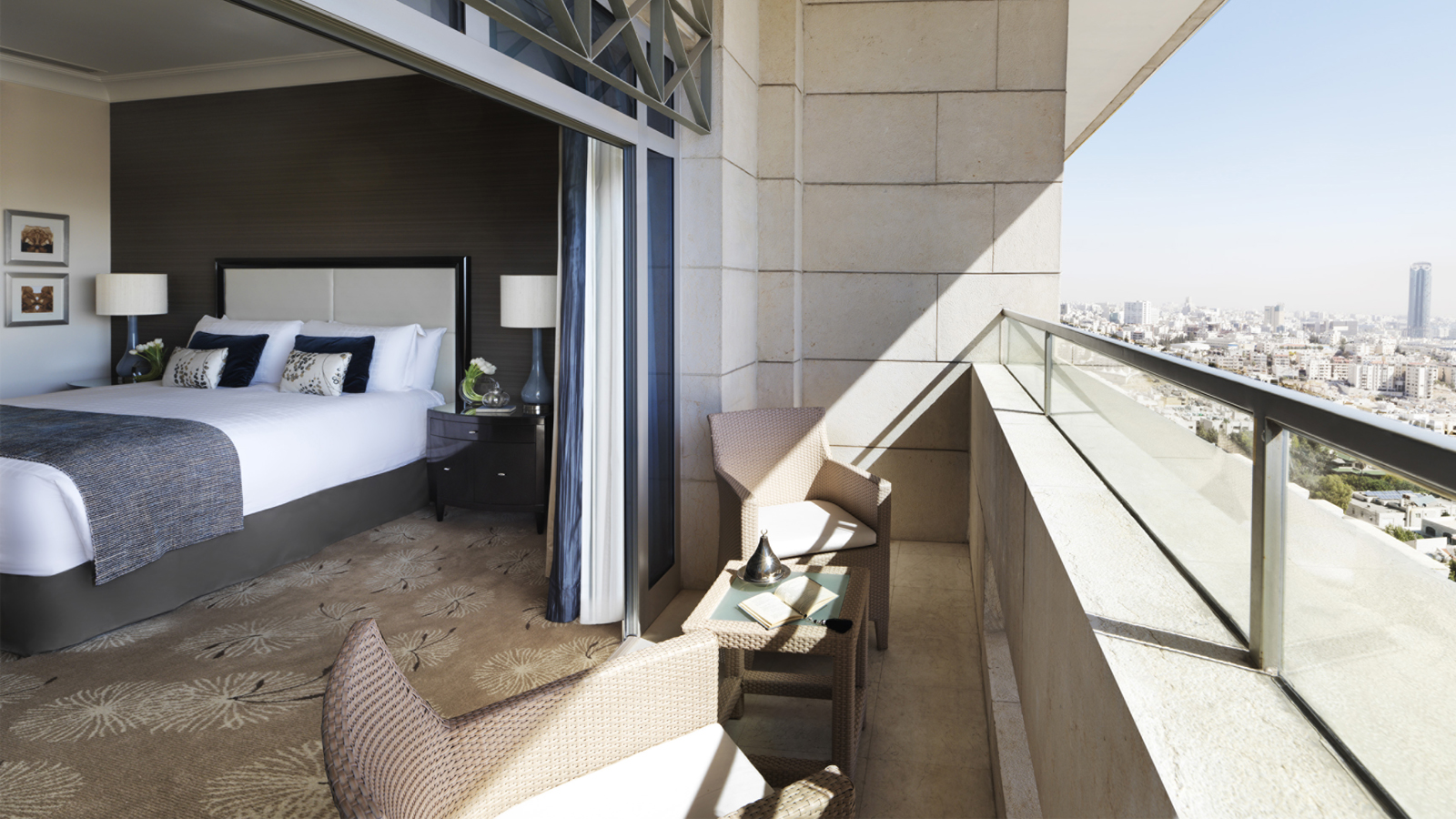 Four Seasons Amman Luxury Hotel Room with Balcony