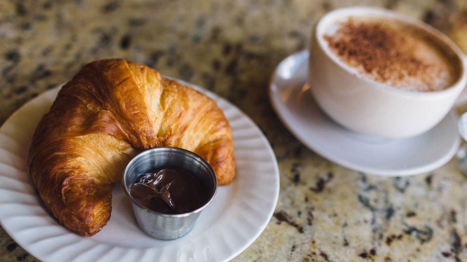 Sweet Croissant and Coffee