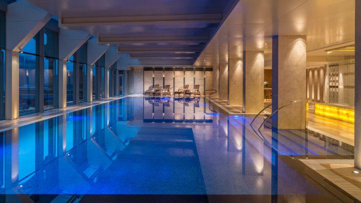 Indoor Swimming Pool At Luxury Hotel Four Seasons Beijing