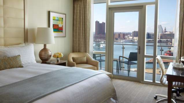 Water-View Room with Balcony at Four Seasons Hotel Baltimore