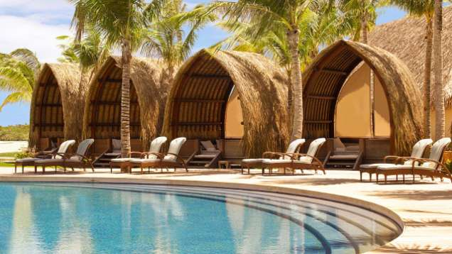 Poolside Cabanas at Four Seasons Resort Bora Bora