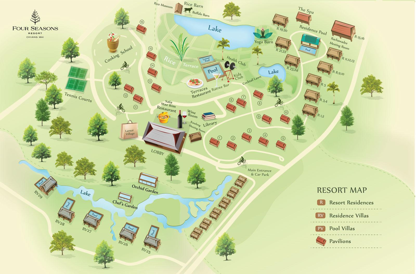 Chiang Mai Resort Map Four Seasons Chiang Mai