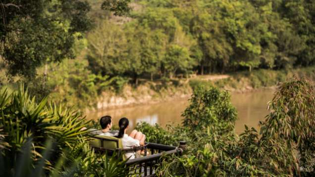 Honeymoon at Four Seasons Tented Camp Golden Triangle Thailand