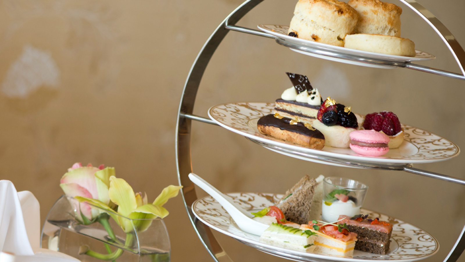Traditional Afternoon Tea at Seasons Tea Lounge in Doha