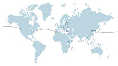 Around the World Feb 2015 Map