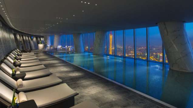 Indoor Pool at Four Seasons Hotel Guangzhou