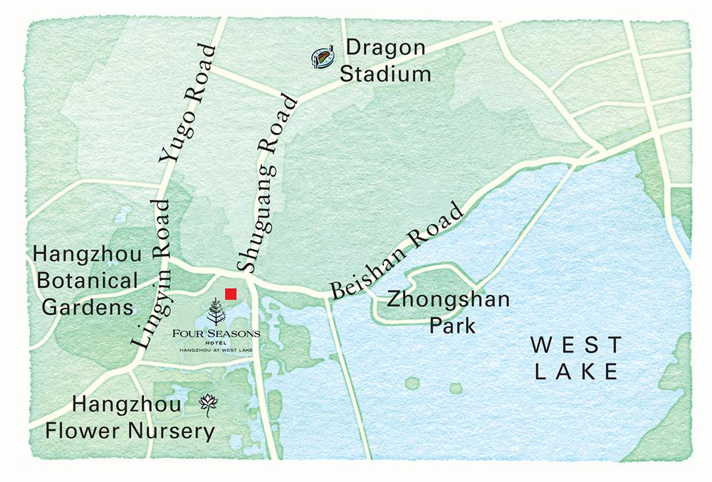 Hangzhou Hotel Map Directions Four Seasons Hotel Hangzhou