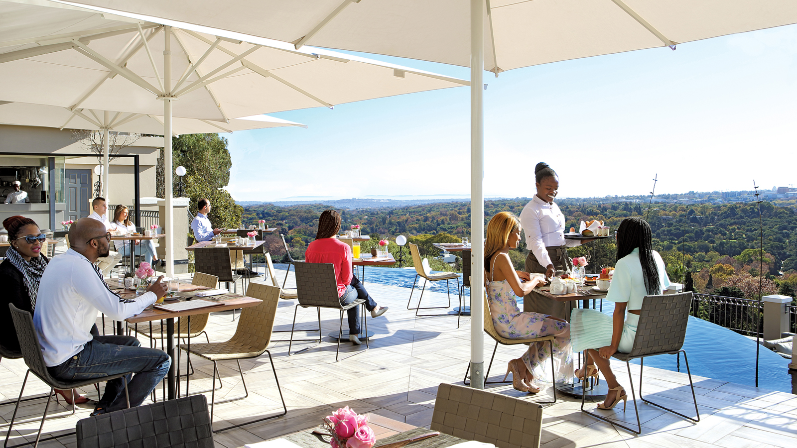 Views from Four Seasons Hotel The Westcliff Johannesburg