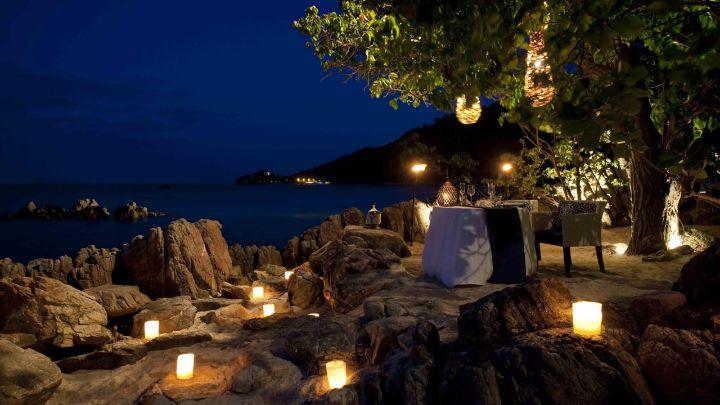 Koh Samui Dining Dinner On The Beach Four Seasons