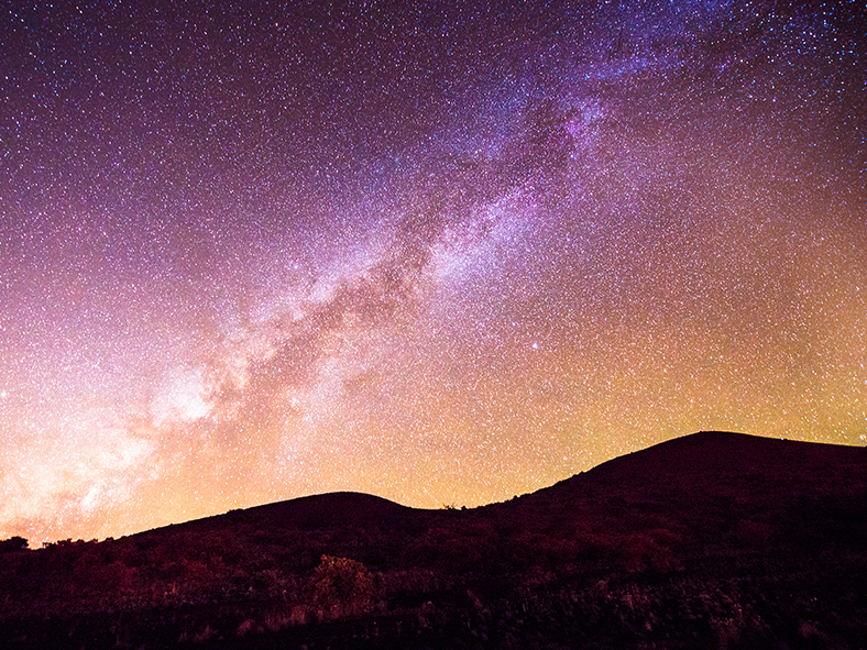 Gaze at the night sky from Mauna Kea