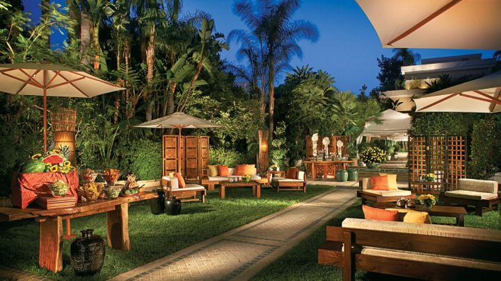 Outdoor event space los angeles wedding venue four seasons for Garden room 4 seasons