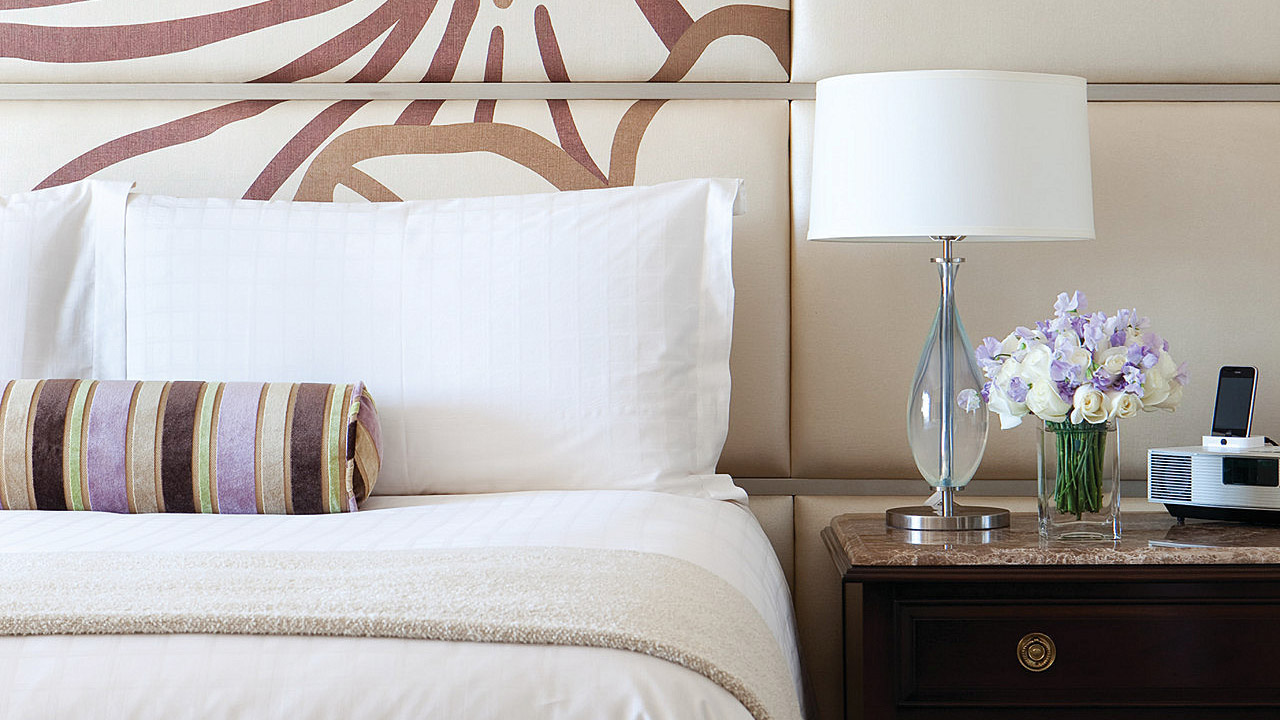 Comfortable Bed at Four Seasons Hotel Los Angeles at Beverly Hills