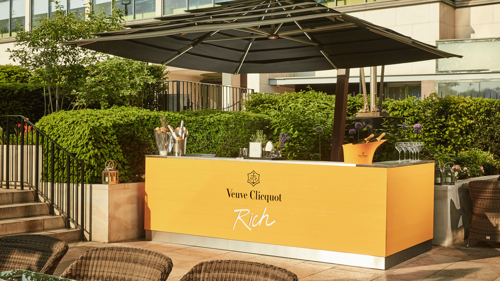 Celebrate summer with the launch of veuve clicquot the for Secret garden pool novaliches