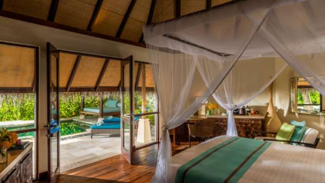 Rest and Transfer Package Offered at Four Seasons Resort Maldives at Kuda Huraa, a Luxury Resort in the Maldives