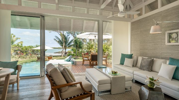 Sanctuary beach pool villa mauritius four seasons resort for Garden room 4 seasons