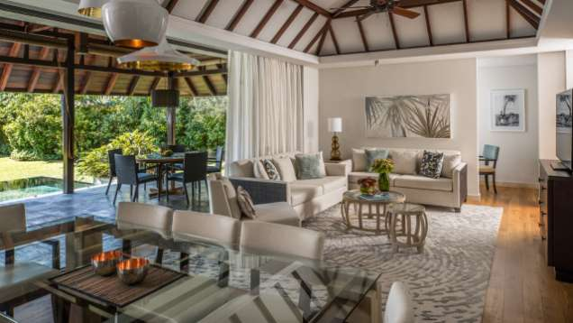 Three bedroom villa four seasons resort mauritius at anahita for Garden room 4 seasons