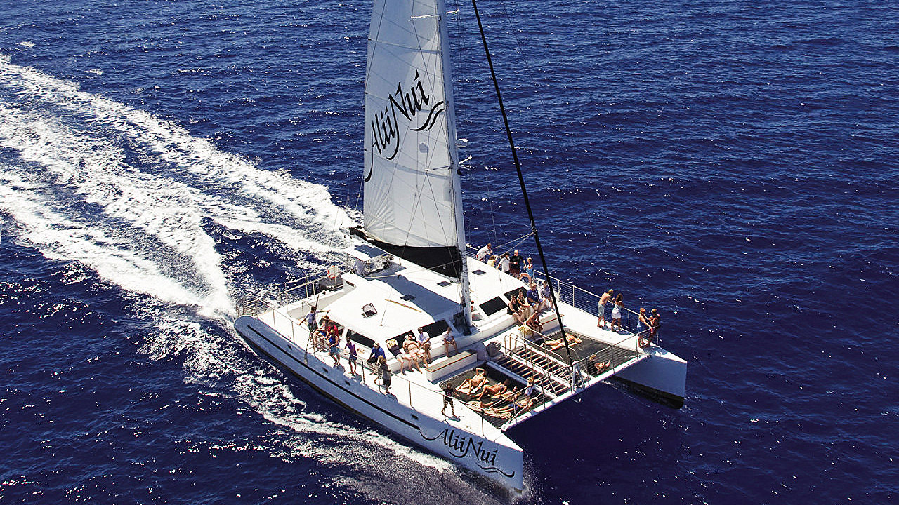 Catamaran Sailing in Maui at Four Seasons Resort