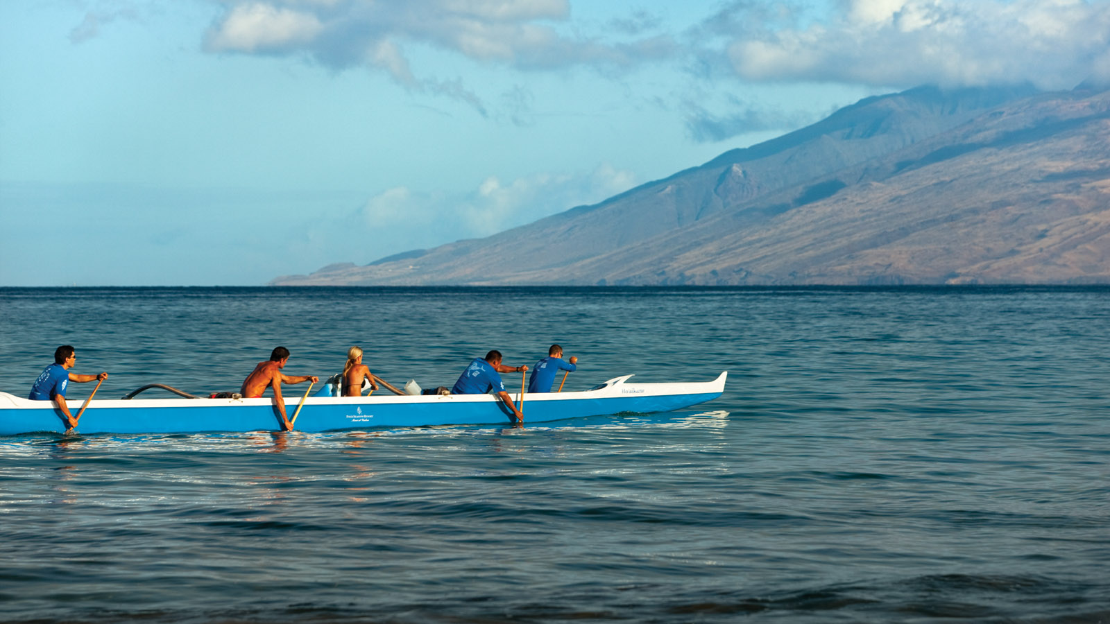 Outrigger experience in Maui, Hawaii at Four Seasons Resort