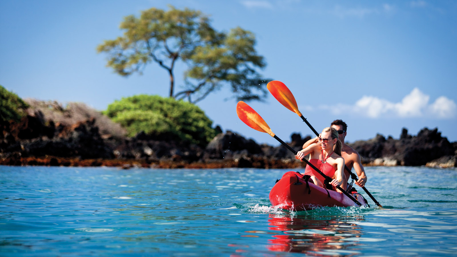 Kayak tours in Maui, Hawaii at Four Seasons Resort