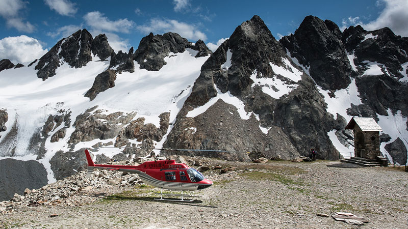 Helicopter Ride Over the Rhaetian Alps From Four Seasons Milan