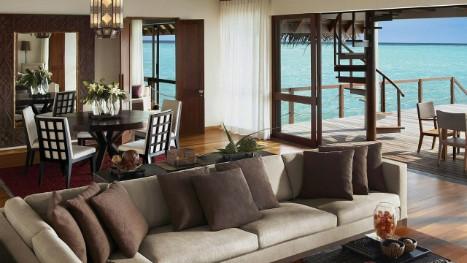 Malediven Villa   Wasser-Suite mit zwei Schlafzimmern und Blick auf ...