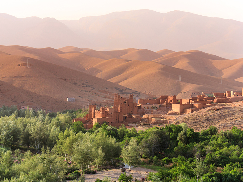 Experience village life in the Atlas Mountains
