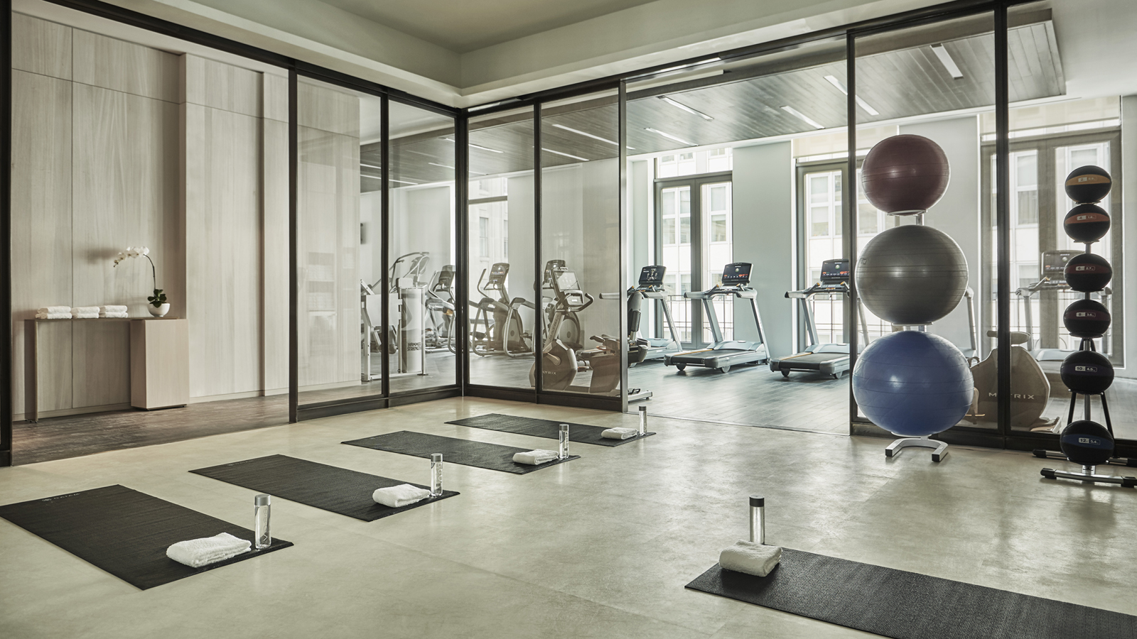 Gym and fitness facilities four seasons new york downtown