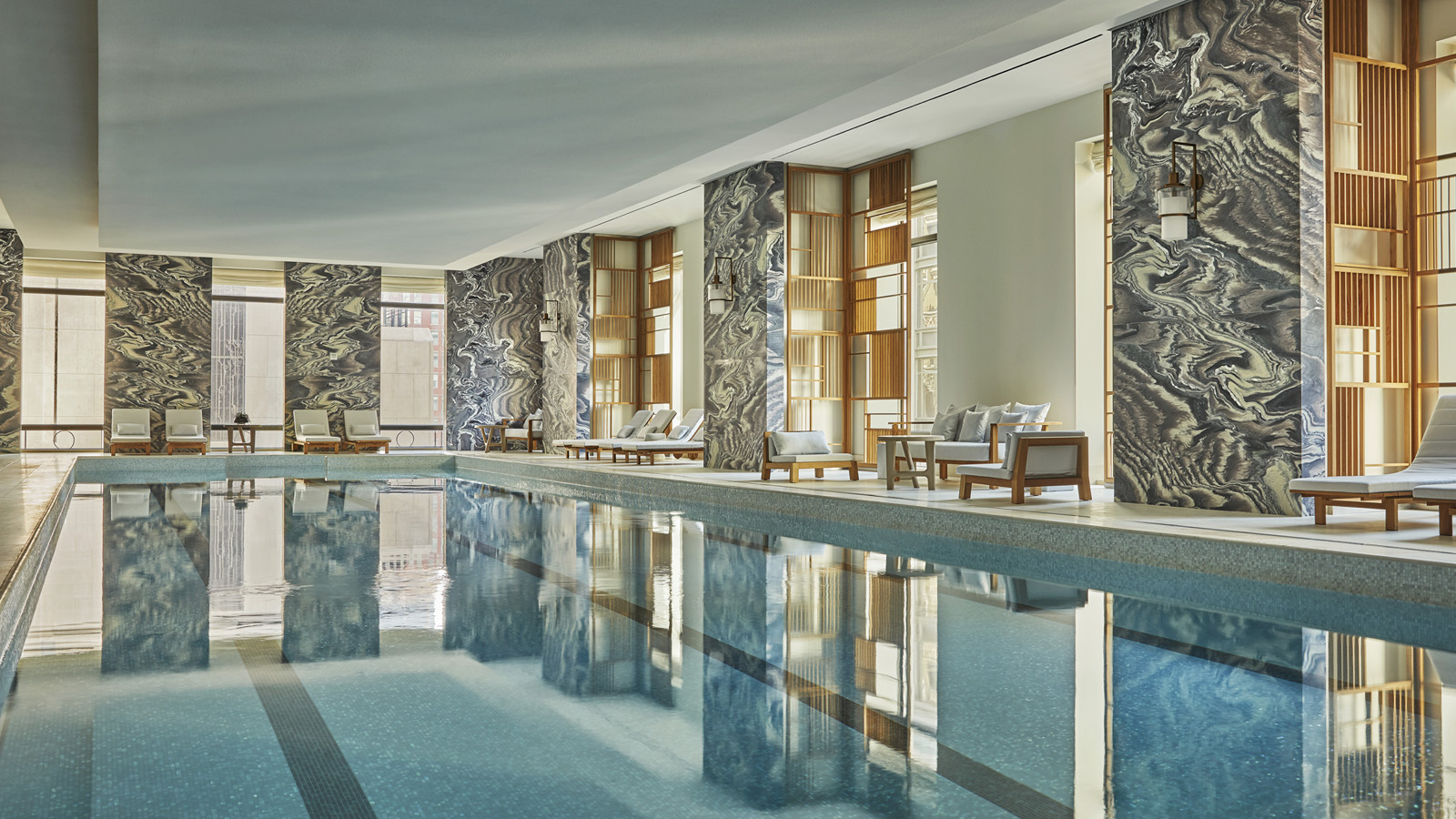 Hotel with indoor pool lap pool four seasons new york for 5000 square feet in square meters