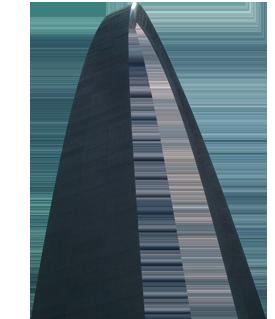 Gateway Arch Near Luxurious Four Seasons Hotel In Downtown St Louis Mo