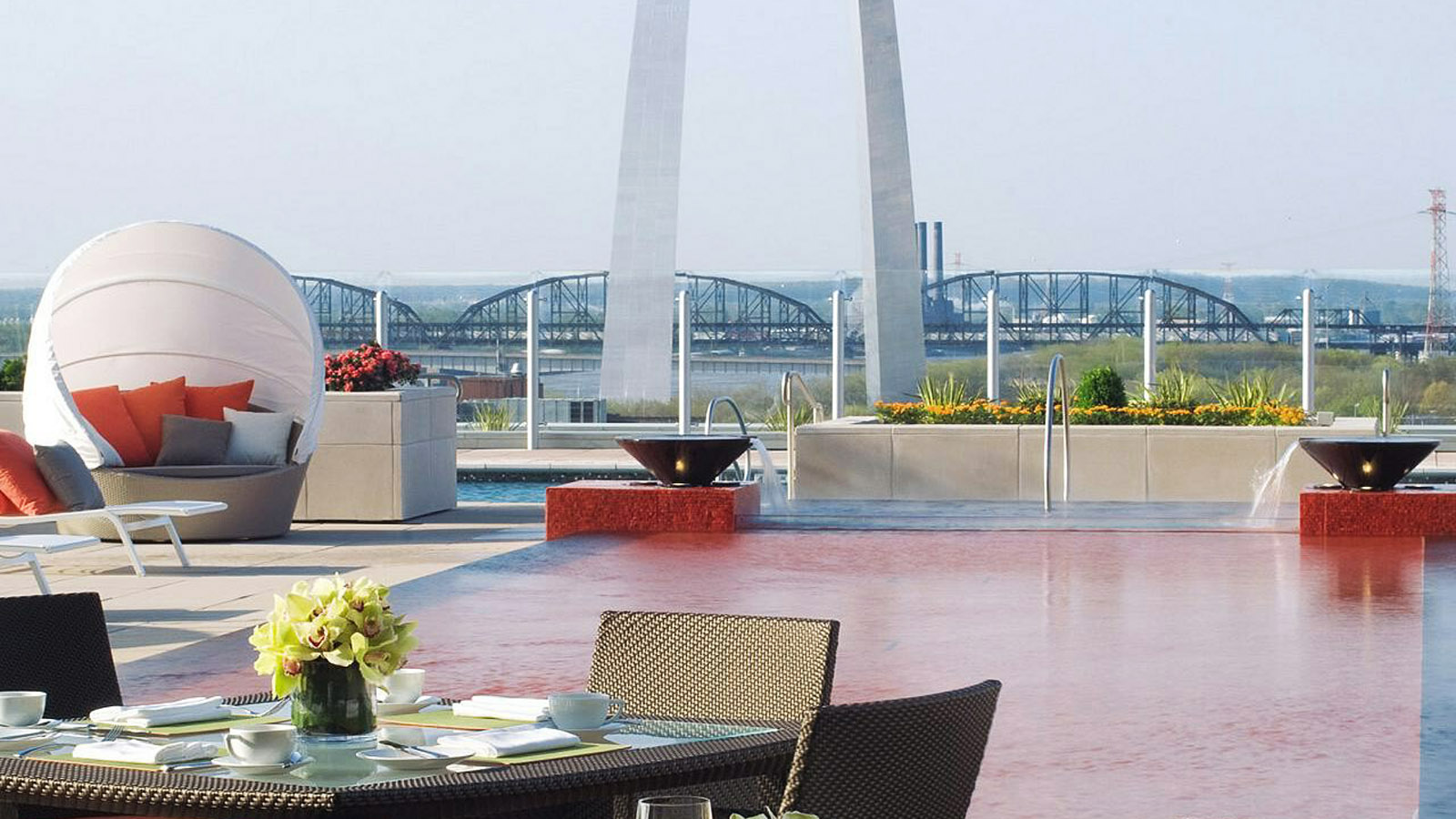 Sky Terrace Swimming Pool at Four Seasons Hotel St. Louis