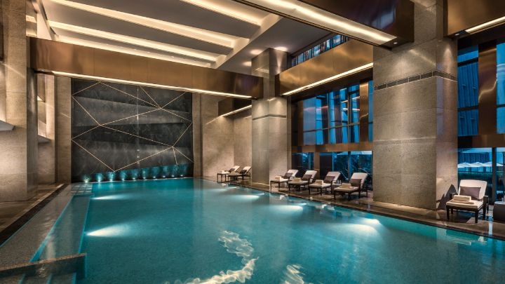 Hotel indoor pool  Shenzhen Hotel Indoor Pool | Four Seasons Hotel Shenzhen