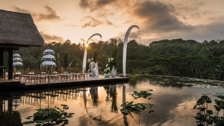 Rooftop Lotus Pond Wedding Venue Four Seasons Resort