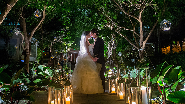 with abundant blooms and elegant details megan and gabriel create the atmosphere of an english garden wedding in the ballroom at four seasons hotel miami