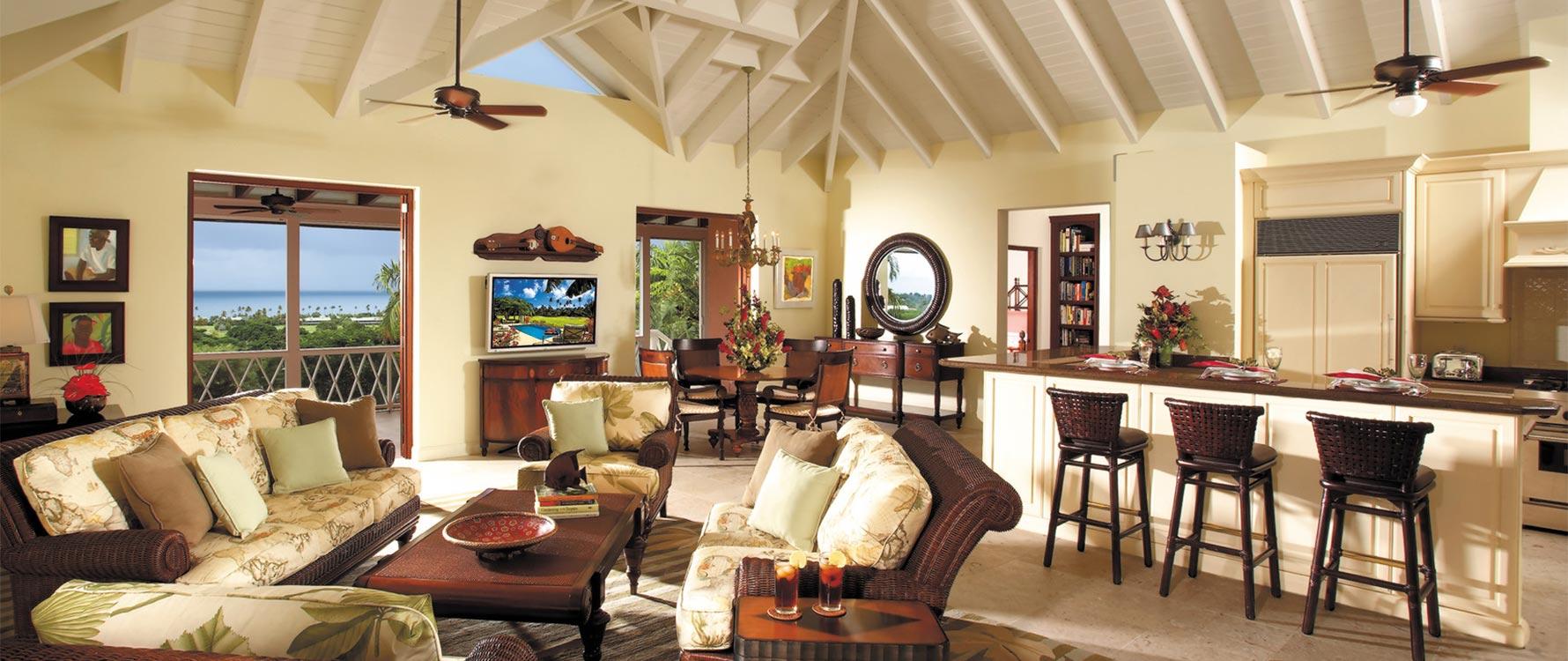 Living room/bar area