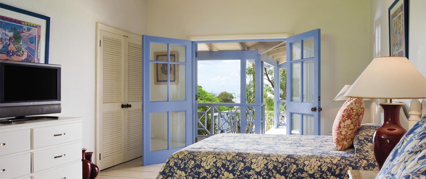 Guest bedroom #1 on veranda