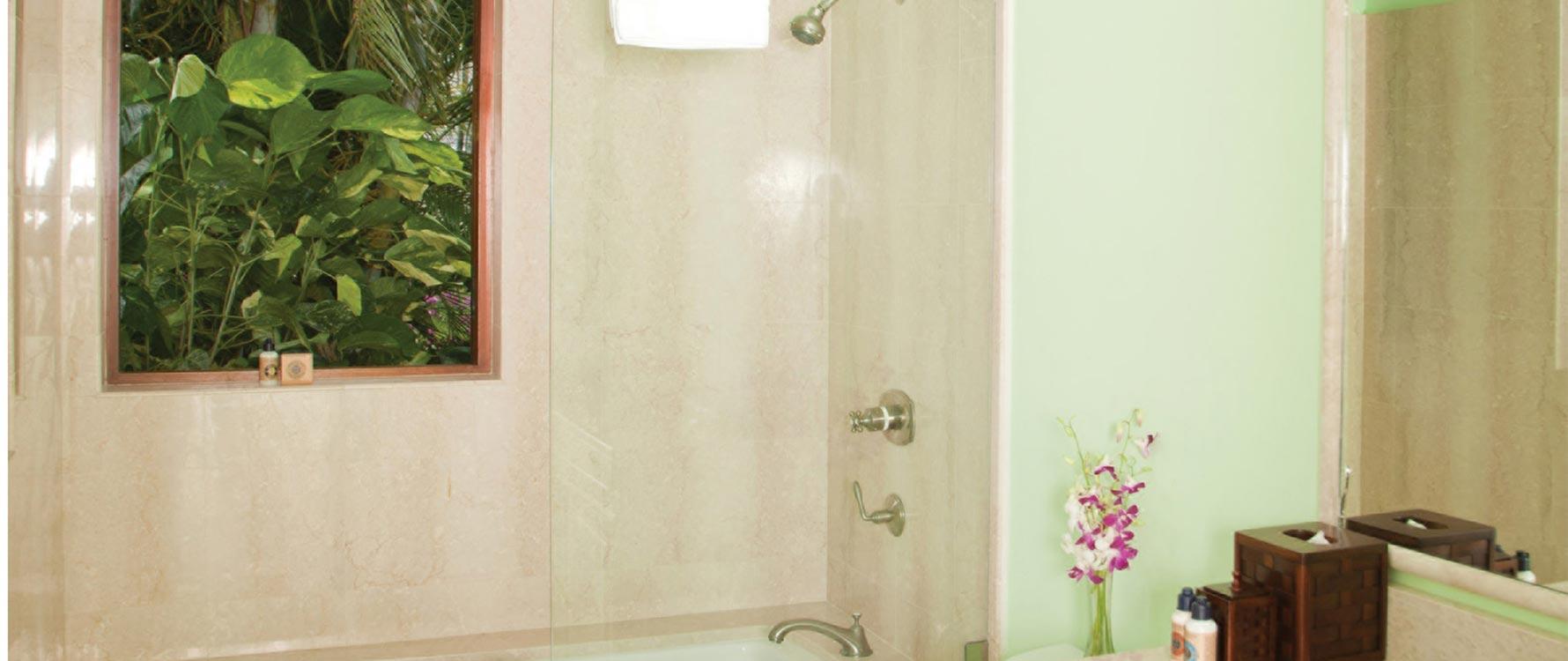 Guest green bathroom